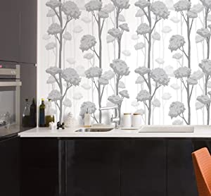 decowall hol 20159 grey tree patten self adhesive. Black Bedroom Furniture Sets. Home Design Ideas