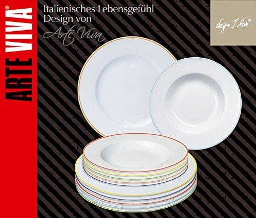 arte viva 120703 grazioso service de table et caf design par matteo fabrini 30 pi ces rondes en. Black Bedroom Furniture Sets. Home Design Ideas