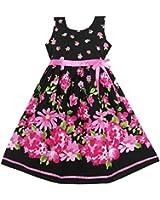 Girls Dress Hot Pink Flower Belt Party Kids Size 4-12