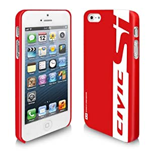Honda Civic Si Red Stripe iPhone 5 Leather-Feel hard Cell Phone Case