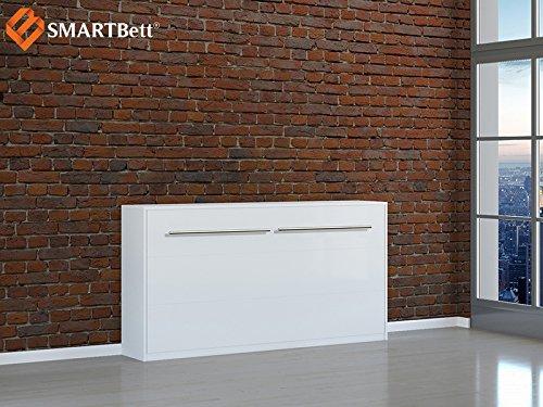 Armario Smart cama Horizontal invitados cama 90x 200cm Horizontal Color Blanco