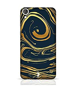 Stylebaby Cases and Covers for Men Hand Drawn Marbling Illustration Gold 2 Back Cover for HTC Desire 826 Multicolor