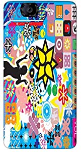 Timpax protective Armor Hard Bumper Back Case Cover. Multicolor printed on 3 Dimensional case with latest & finest graphic design art. Compatible with Micromax A350 Canvas Knight Design No : TDZ-28713