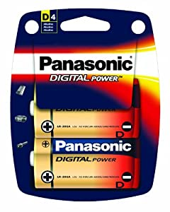 Panasonic Digital Power D Size Alkaline Batteries - 4 Pack