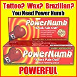 Power Numb 1x30g Tube Powerful Topical Numbing Cream Anesthetic Wax Laser Hair Removal -Pain FREE Procedures!