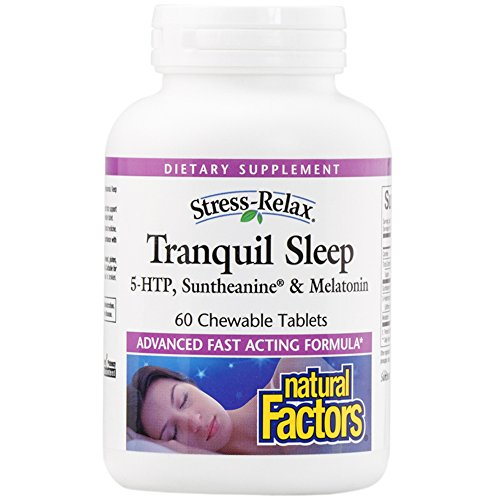 Simple Factors - Stress-Relax Tranquil Sleep, 5-HTP, Suntheanine & Melatonin, 60 Chewable Tablets