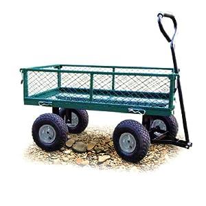 Carrello giardino acciaio portata 150kg 4 ruote - Carrelli cucina brico ...