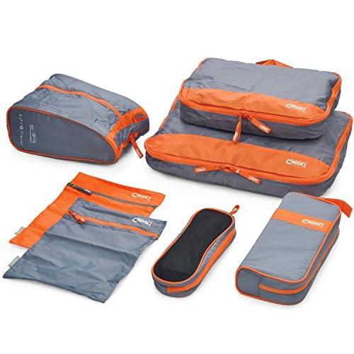 旅行に便利 旅行 収納 7点 セット コンパクトに荷物を収納 収納 便利 (2. オレンジ)