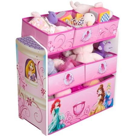Disney Princess Multi-Bin Toy Organizer, Pink, Featuring All of the Seven Princesses from the Disney Fairy Tales (Princess Organizer compare prices)