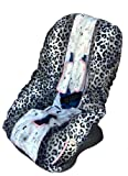 Patricia Ann Designs Paris Toddler Carseat Cover - Pink and White gingham
