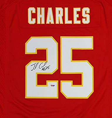 Jamaal Charles Autographed Kansas City Chiefs Nike Red Jersey PSA/DNA