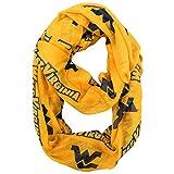 NCAA West Virginia Mountaineers Sheer Infinity Scarf, One Size, Yellow