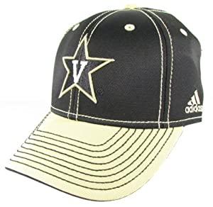 adidas vanderbilt commodores black flex hat