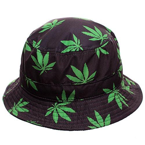 Black-Marijuana-Leaf-Bucket-Hat
