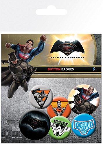 GB Eye Ltd, Batman Vs Superman, Mix, Set di spille