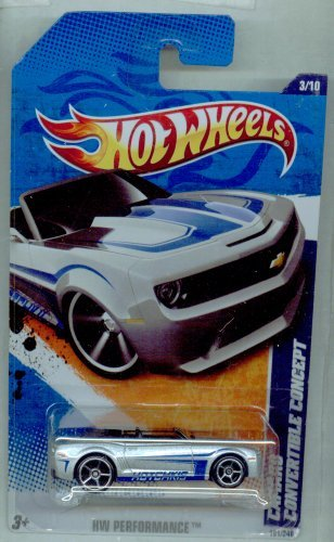 Hot Wheels 2011-101/240 HW Performance 3/10 Camaro Convertible Concept 1:64 Scale - 1