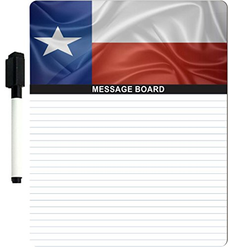 "Rikki Knighttm Texas State Flag Design 8"" X 10"" X 1/8 Hardboard Dry Erase Message Board With Magnet Strips On Back (Black Marker Included) front-642695"