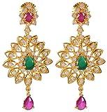 Violet & Purple Gold Alloy Dangle & Drop Earrings for Women (1000030752)