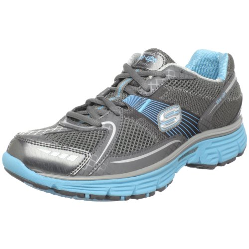 Skechers Women's Ready Set Sport Sneaker,Charcoal/Aqua,8.5 M US