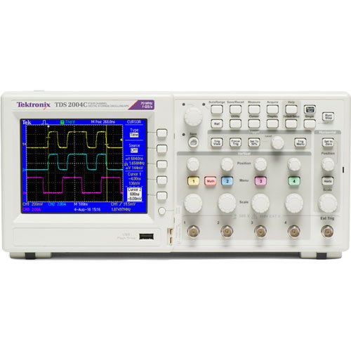 Tektronix Tds2004C Portable Digital Oscilloscope, 70Mhz Bandwidth, 1Gs/S Sample Rate, 2.5K Record Length, 4 Channels, Color Tft-Lcd