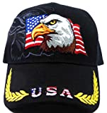 USA Flag & Eagle Baseball Caps Fashion - Black