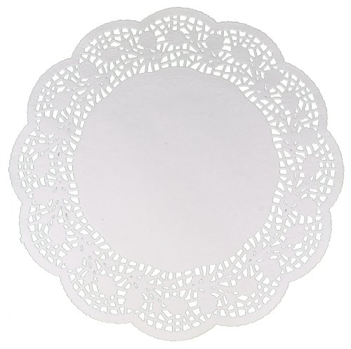 48 Round 12 Doilies White Lace Paper Decorative Cakes Crafts Acme Intl (6pks) сменный аккумулятор acme power lp e8 white