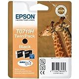 Tintenpatr. Epson T0711H Schwarz Twin Pack