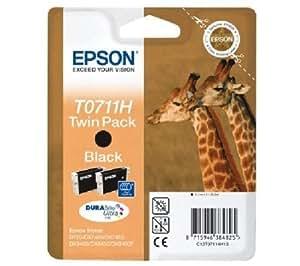Epson T0711 H Cartouche d'encre d'origine DURABrite Ultra Noire Haute Capacité