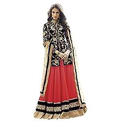 Aagaman Fashions Velvet Lehenga Choli (TSN88001_Black)