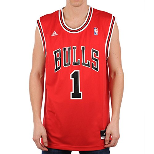 adidas Maglietta Uomo International Chicago Bulls Derrick Rose NBA Replica - Multicolore (Nba Chicago Bulls 1 - 300) - XL
