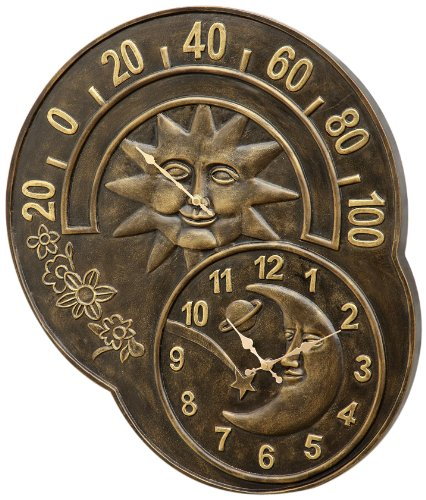 SPI Home 33761 Sun and Moon Clock and Thermometer