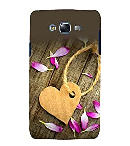 printtech Wooden Heart Flower Back Case Cover for Samsung Galaxy J1 (2016) / Versions: J120F (Global); Galaxy Express 3 J120A (AT&T); J120H, J120M, J120M, J120T Also known as Samsung Galaxy J1 (2016) Duos with dual-SIM card slots