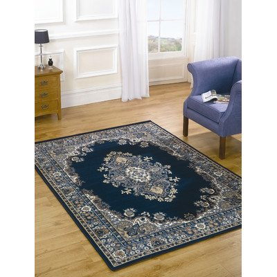 Element Lancaster Navy Contemporary Rug/Runner Size: 320cm x 220cm (10 ft 6 in x 7 ft 2.5 in)