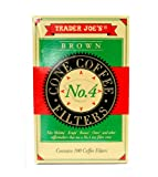 Trader Joe's Brown Cone Coffee Filters (100 Filters)