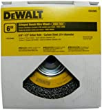 DEWALT DW4905 6-Inch Crimped Bench Wire Wheel, 5/8-Inch-1/2-Inch Arbor, Wide Face .014-Inch