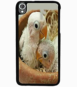 ColourCraft Cute Birds Design Back Case Cover for HTC DESIRE 820