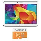 Samsung GT4 Galaxy Tab 4 10.1 16GB (White) and Samsung Micro SDHC EVO16gb w/ Adapter
