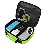 ECOSUSI Electronics Travel Organizer Case Bag, Fluorescent Green