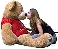 I Love You This Much 5 Foot Giant Teddy Bear Soft Wearing Red T-shirt That Says I LOVE YOU THIS…
