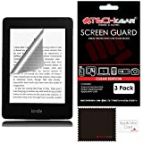 "[3 Pack] TECHGEAR® Amazon Kindle Paperwhite and Paperwhite 3G eReader with 6"" Dispaly CLEAR LCD Screen Protectors with Cleaning Cloth & Application Card"