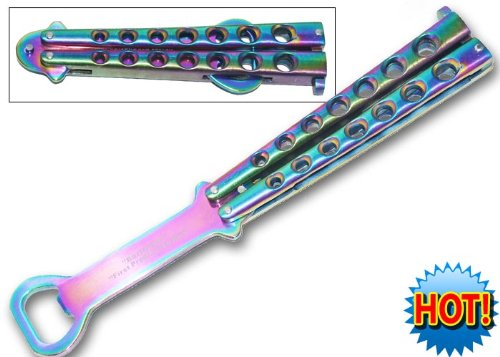 Rainbow Butterfly Knife