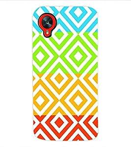 ColourCraft Pattern Back Case Cover for LG GOOGLE NEXUS 5