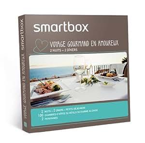 SMARTBOX - Coffret Cadeau - Voyage gourmand en amoureux (2 nuits)