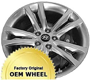 HYUNDAI GENESIS 19X8.5 10 SPOKE Factory Oem Wheel Rim- HYPER SILVER – Remanufactured