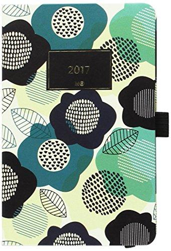 miquelrius-31065-agenda-annuale-in-morbido-pvc-cucito-90-x-140-mm-settimana-vista-floral-cm