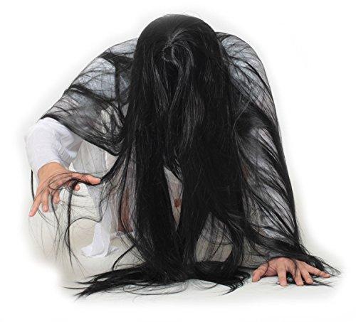 コススタイル(CosStyle) ホラー コスプレ 衣装 化物 恐怖 女性 リアル お化け 仮装 3D ウィッグ 白装束