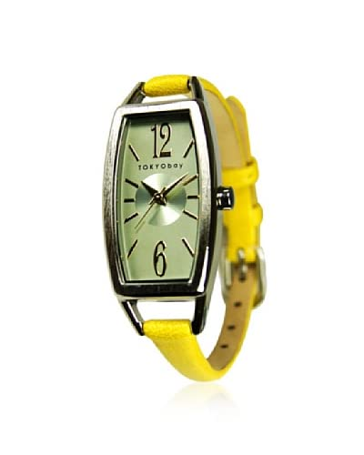 TOKYObay Women's T218-YEL Levere Yellow/Green Leather Watch As You See