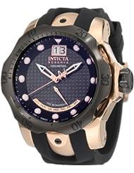 Invicta Men's 1594 Reserve Retrograde Black Dial Black Silicone Watch