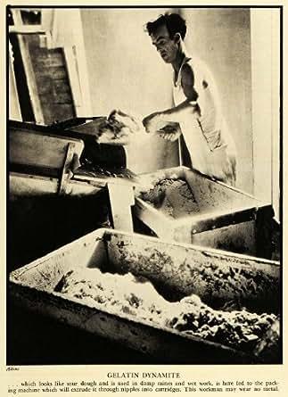 1935 Print Aikins Gelatin Dynamite TNT Cartridge Worker ...