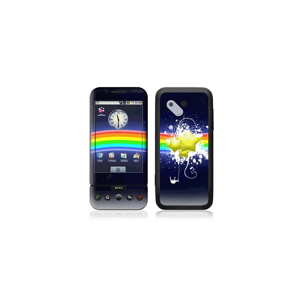 Rainbow Stars Decorative Skin Cover Decal Sticker for HTC T Mobile Google G1 Cell Phone
